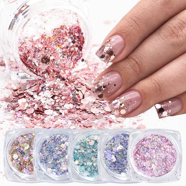 nail decoration, glitternail, Glitter, art