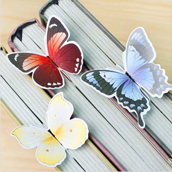 butterfly, Kawaii, paperlabel, 3dbookmark