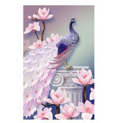peacock, 5ddiamondembroidery, DIAMOND, Home Decor