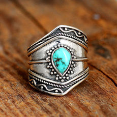 Sterling, bohemianring, Turquoise, bohojewelry
