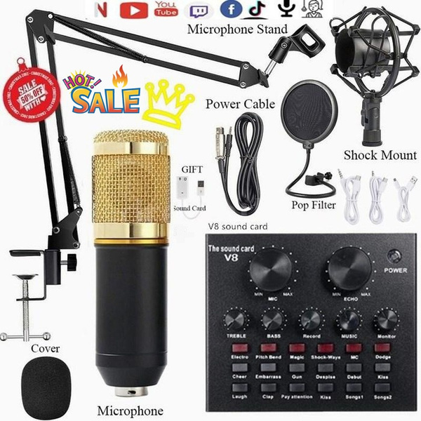 Microphone, bm800suspensionmicrophone, livesoundcard, microphonekit