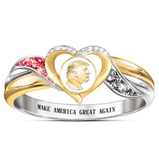 Sterling, hip hop jewelry, gold, usapresidenttrump