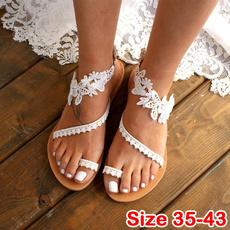 bohemia, beach shoes, Plus Size, Lace