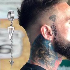 Hoop Earring, Triangles, Jewelry, Chain