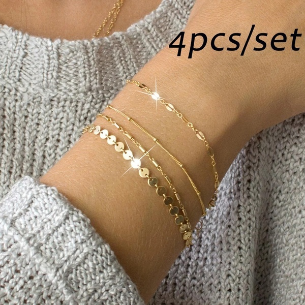 Charm Bracelet, Jewelry, Chain, Gold Bangle
