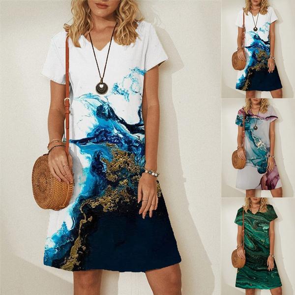 Summer, dressesforwomen, sleeve dress, Necks