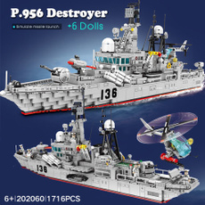 destroyer, warship, Lego, ww2