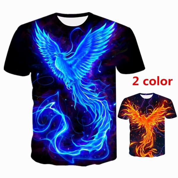 Mens T Shirt, Printed T Shirts, Phoenix, Sleeve