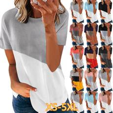 shirtsforwomen, Summer, Plus Size, Necks