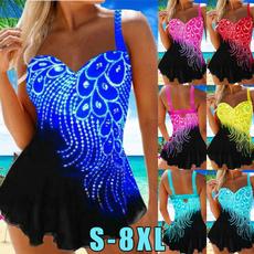 bathing suit, Plus Size, Halter, Bikini swimwear