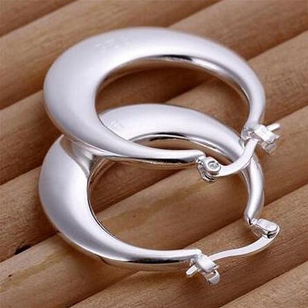 Sterling, Hoop Earring, 925sterlingstudearring, Jewelry
