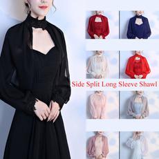 Fashion, Lace, chiffon, Long Sleeve