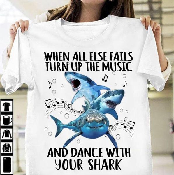 Shark, Fashion, Shirt, Gifts