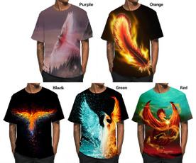 short sleeves, Funny T Shirt, Necks, firephoenix