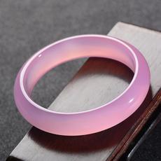 pink, womenjadebracelet, Wristbands, jadering