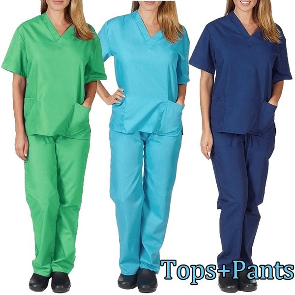 sleeve v-neck, workinguniform, Shorts, pants