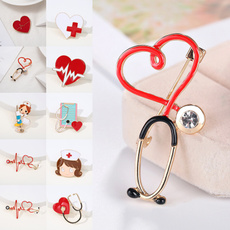 Heart, Jewelry, Pins, doctor