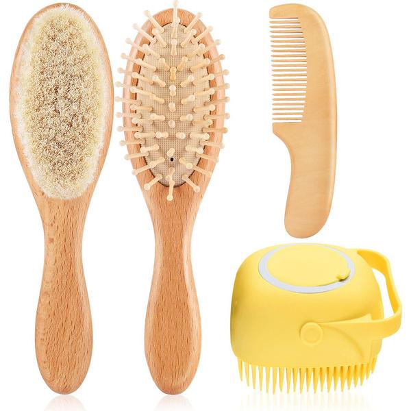 Shower, softgoatbristlesbrush, Combs, Wooden