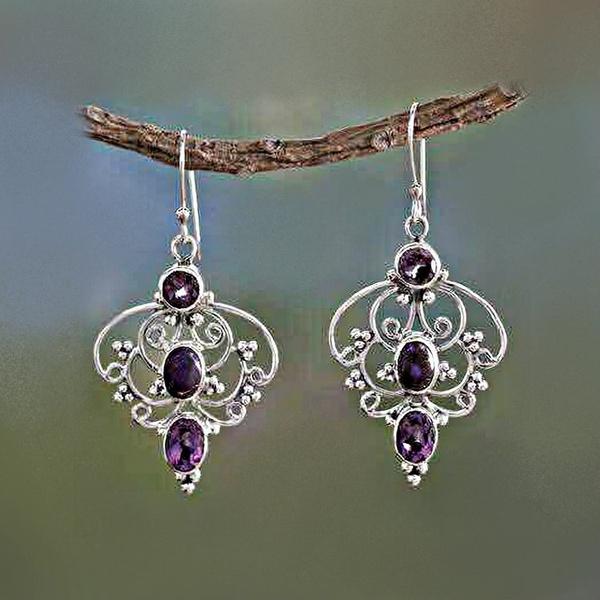 Gemstone Earrings, hookearring, water, Hooks