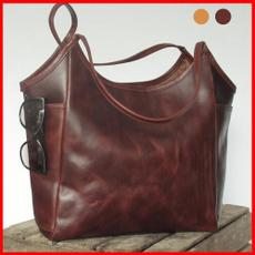 Shoulder Bags, Capacity, Leather Handbags, vintage bag