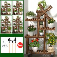 5tier, Wood, flowerrack, plantstand