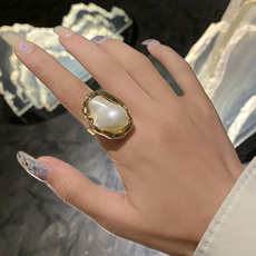 Couple Rings, adjustablering, Pearl Ring, Jewelry