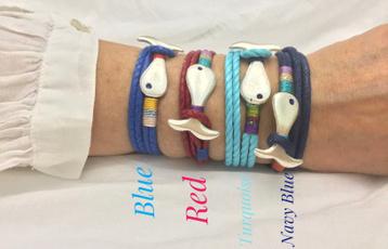 Cotton, necklacebracelet, doublewrapbracelet, whalebracelet