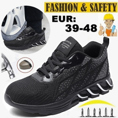 safetyshoe, Outdoor, Breathable, mensworkshoe