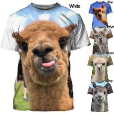 Mens T Shirt, Fashion, alpaca, summer t-shirts
