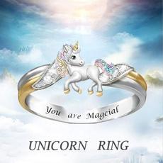 cute, crystalfashionring, Fashion, unicornring