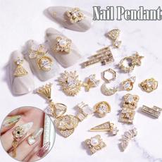 nail decoration, golden, art, Jewelry