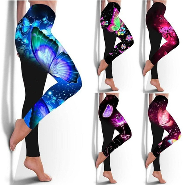 butterfly, Plus Size, pants, highwaisgympant