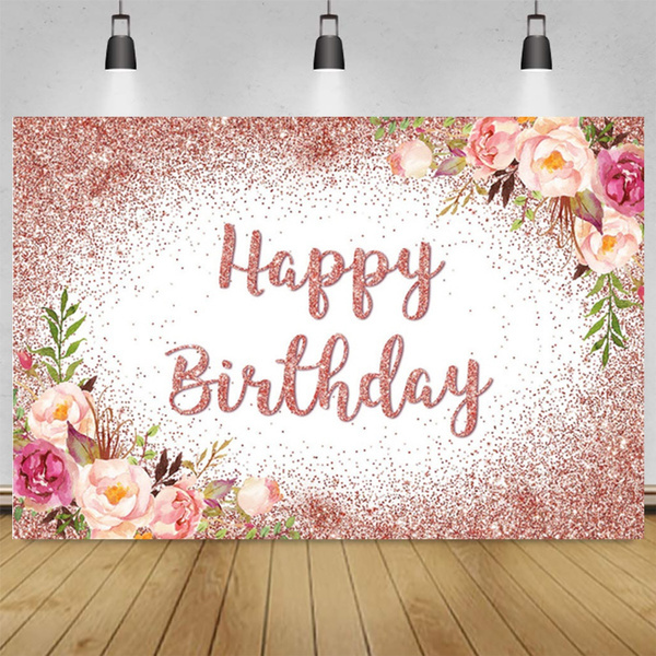 happybirthday, birthdaypartybackdrop, Floral, partybanner