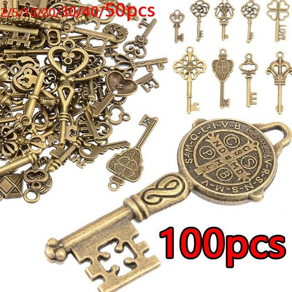 Antique, Heart, Key Chain, Jewelry
