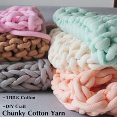 Cotton, Knitting, Home Decor, chunkyyarn