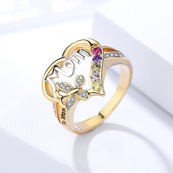 DIAMOND, Love, Family, 925 silver rings