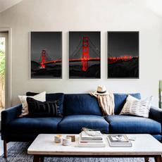 bridge, art, canvaspainting, Home & Living