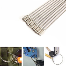 Steel, cablekeyring, Outdoor, Key Chain