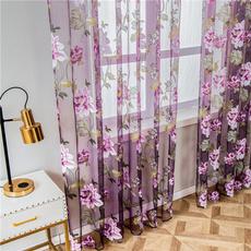 bedroomcurtain, Kitchen & Dining, Floral, grommetcurtain