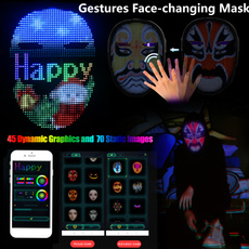 glowingmask, Makeup, ledravemask, Beauty