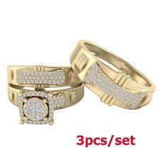 bridalringsset, DIAMOND, goldringforwomen, gold