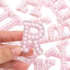 pink, alphabetletter, patchesforclothe, letterpatche