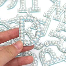 Blues, Jeans, alphabetletter, pearls