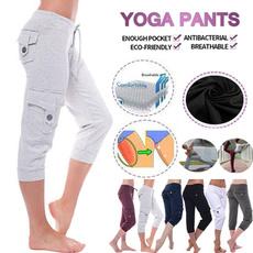 elastic waist, Yoga, Ladies Fashion, Casual pants