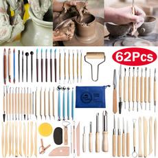 Pottery, polymer, art, polymerclaytool