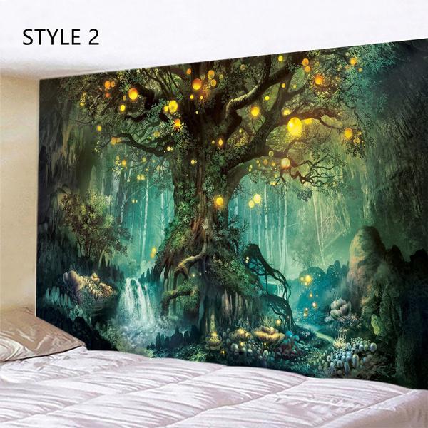 treetapestry, tapestryforbedroom, art, mandalatapestry