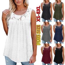 Summer, Vest, Plus size top, Lace