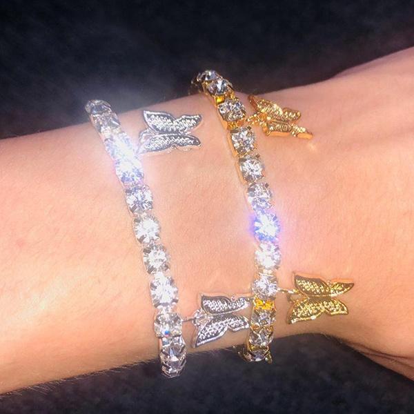 butterfly, charmrhinestone, DIAMOND, butterflybracelet