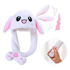 bunnyflushhat, Warm Hat, rabbitearhat, Winter