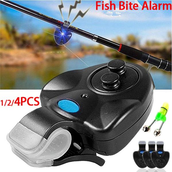 LED Electronic Fishing Bite Alarm Alert Bell Fish Rod Clip-On Indicators